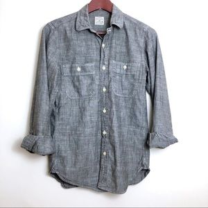 J.Crew 100% Cotton Chambray Long Sleeve Top